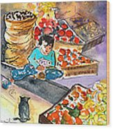 Fruit Shop In The Mountains Of Gran Canaria Wood Print
