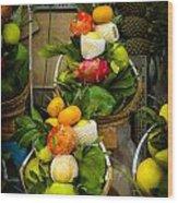 Fruit Stall In Vietnamese Market Wood Print