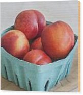 Fruit Stand Nectarines Wood Print