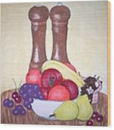 Fruit Table Wood Print