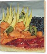 Fruit Tart Wood Print