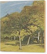 Fruit Trees Wood Print