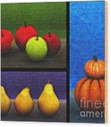 Fruit Trilogy Wood Print