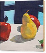 First Pear Wood Print