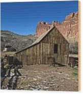 Fruita Horse Stable Capitol Reef National Park Utah Wood Print