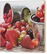 Fruits And Berries Wood Print