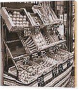Fruits Et Legumes Wood Print by Olivier Le Queinec