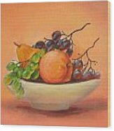Fruits In A Plate Wood Print