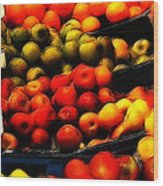 Fruits On The Market Wood Print