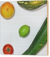 Fruits Project Wood Print