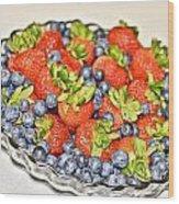 Fruity Day Wood Print