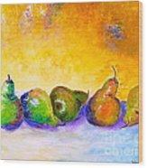 Fruity Pearfection Wood Print