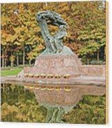Fryderyk Chopin Statue In Warsaw Wood Print