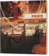 Fryeburg Fair At Night  Fried Dough Wood Print