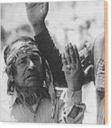 Ft. Apache Homage 1948 Ft. Apache Celebration Ft. Apache Arizona Saluting Apaches 1970 Wood Print