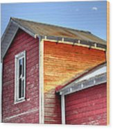 Ft Collins Barn 13502 Wood Print by Jerry Sodorff