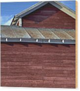 Ft Collins Barn 13550 Wood Print by Jerry Sodorff