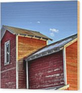 Ft Collins Barn Sunset 13505 Wood Print by Jerry Sodorff