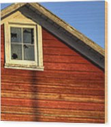 Ft Collins Barn Sunset 2 13508 Wood Print by Jerry Sodorff