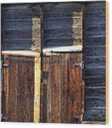 Ft Collins Barn Tin 13547 Wood Print