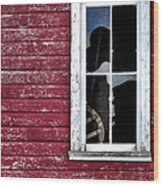 Ft Collins Barn Window 13568 Wood Print
