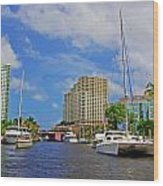 Ft. Lauderdale Canal Wood Print
