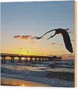 Ft Lauderdale Fishing Pier Wood Print