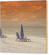 Ft. Myers Beach Wood Print