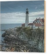 Ft. Williams Lighthouse Wood Print