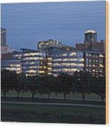 Ft. Worth Texas Skyline Wood Print