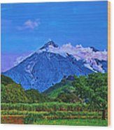 Fuego Volcano Guatamala Wood Print
