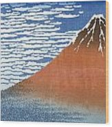 Fuji Mountains In Clear Weather Wood Print