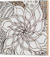 Full Bloom V Wood Print