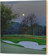 Full Moon At The Philadelphia Cricket Club Wood Print by Bill Cannon
