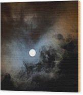 Full Moon Night Wood Print