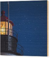 Full Moon On Quoddy No 2 Wood Print