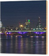 Full Moon Rise Behind St Pauls Wood Print by Andrew Lalchan