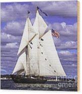 Full Sails Ahead Wood Print