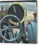 Full Steam Ahead Hmcs Haida Wood Print by Danielle  Parent