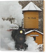Full Steam Ahead Wood Print by Ken Smith