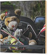 Full Throttle Teddy Bear Wood Print