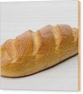 Full White Bread Wood Print