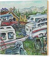 Fairbanks Landscaping Wood Print