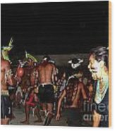 Fulnio Indians Of Brazil  Wood Print