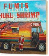Fumis Kahuku Shrimp Wood Print by Ron Regalado
