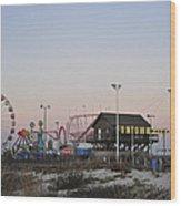 Fun At The Shore Seaside Park New Jersey Wood Print