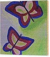 Fun Butterflies Wood Print