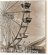 Fun Ferris Wheel Wood Print