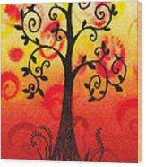 Fun Tree Of Life Impression IIi Wood Print