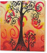 Fun Tree Of Life Impression Vi Wood Print